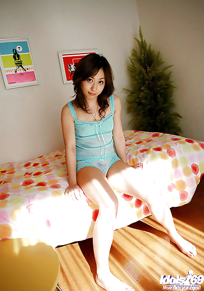 Petite asian babe with hairy..