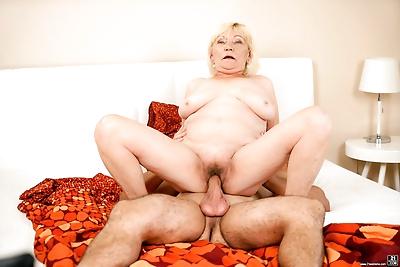 Horny granny irene is ready..