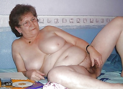 Nasty granny showing her..