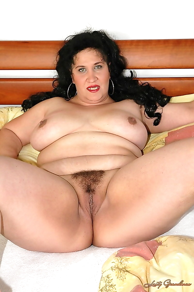 Fat black haired mature..