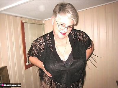 Fat granny unleashes her..