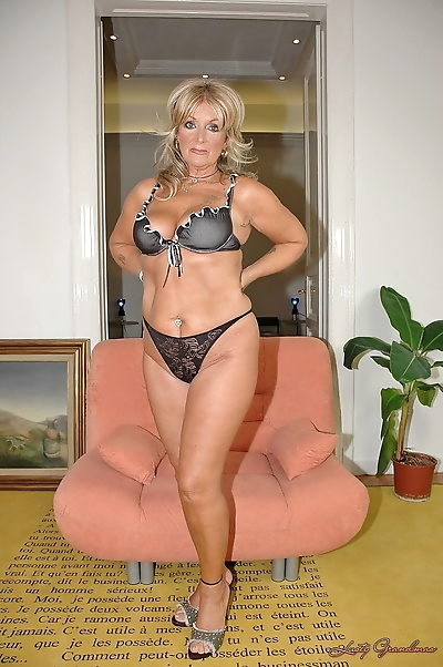 Amateur mature blonde with..
