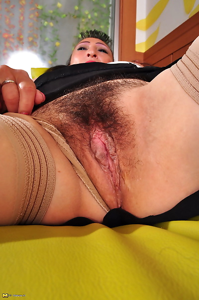 Hairy latin mature lady..