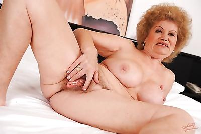 Lecherous granny taking off..