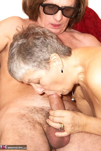 Horny granny Savana sucks..