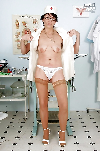 Bad Granny Nurse Strips off..