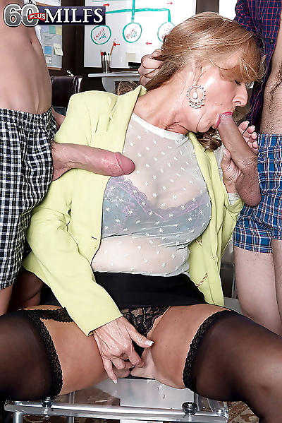 Busty granny Phoenix Skye..