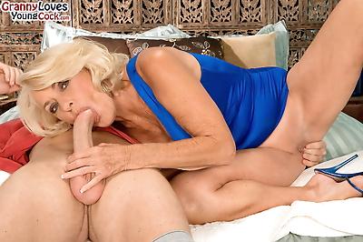 Big boobed granny Georgette..