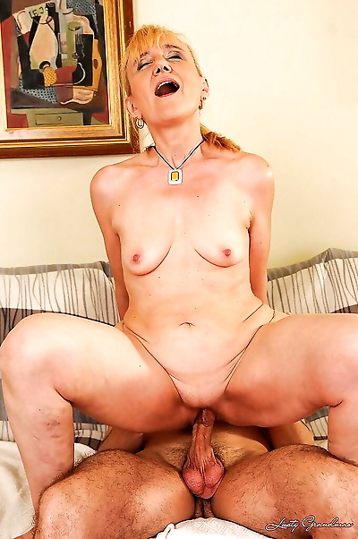 Filthy granny with tiny tits..