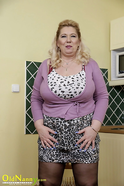 Mature blonde with huge..