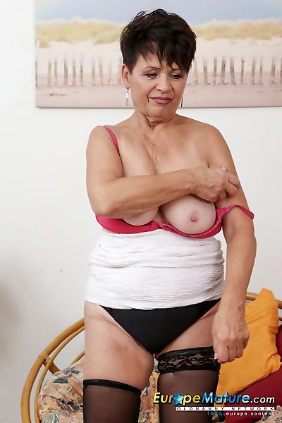 Wrinkled granny Irmchen..