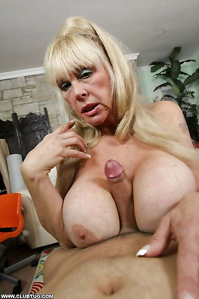 Lusty granny with giant..