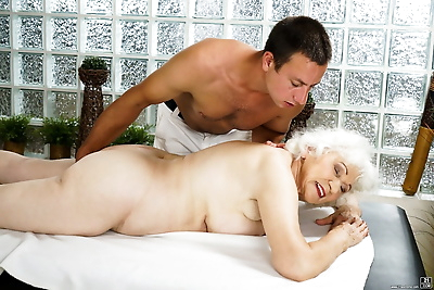 Naked oma finds herself..