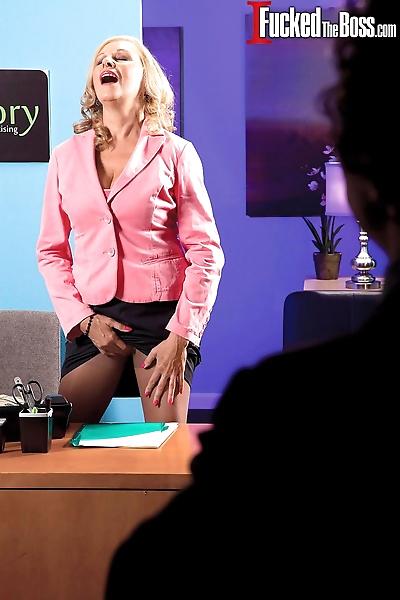 Mature secretary Bethany..