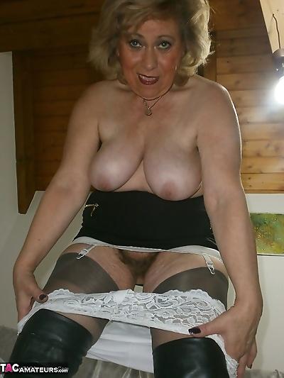 Mature lady next door in..