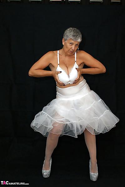 Brazen plump granny Savana..