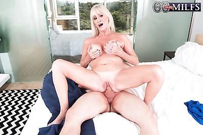 Big titted granny Leah..