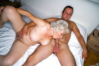 Horny granny norma is in her..