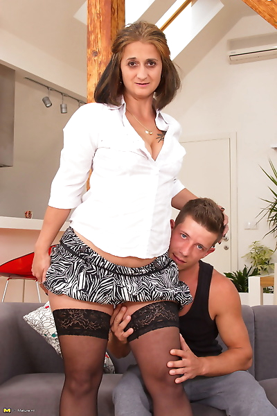 Horny housewife doing her..