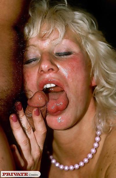Dirty slut gets gangbanged..