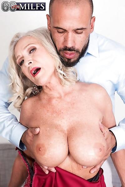 Granny with big round boobs..