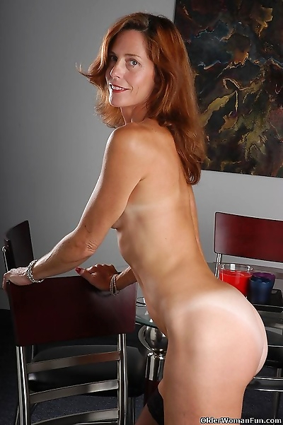 Sexy mom sherry strips off..