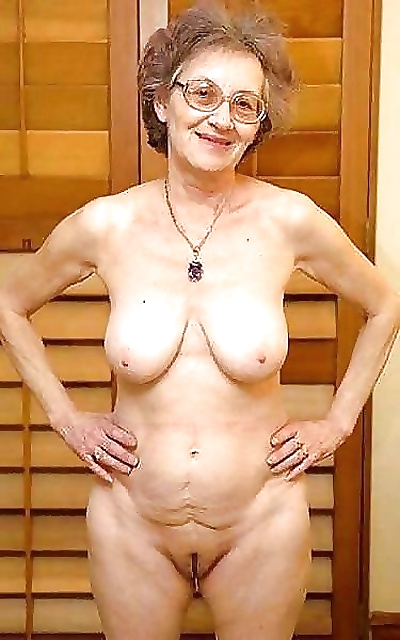 Granny with saggy tits -..