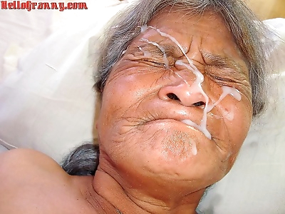 Old granny and cum in her..