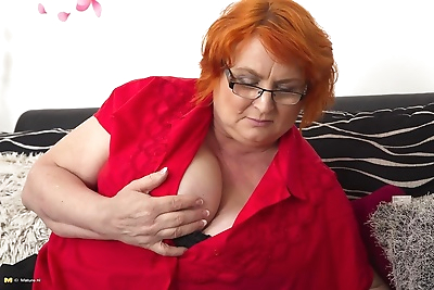 Huge breasted mature lady..