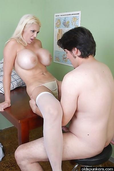 Huge boobs milf nurse - part..