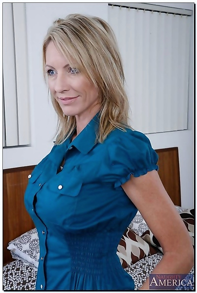 Naughty cougar loves being..