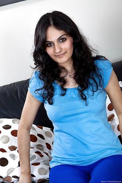 Pretty hairy arab girl riani..