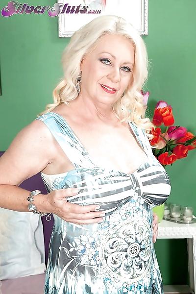 Older blonde woman Angelique..