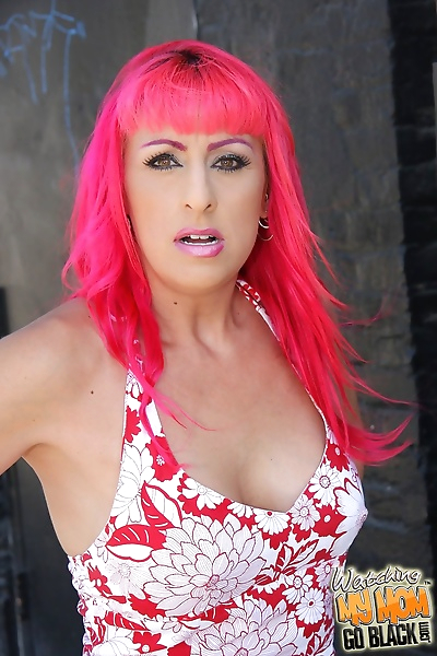 Pink-haired MILF Raven Black..