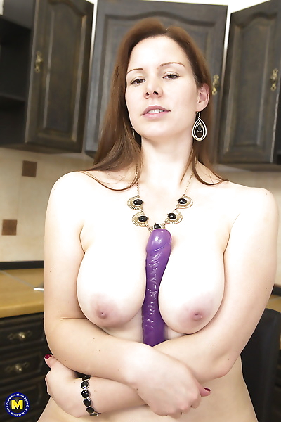Busty hot mom strips naked..