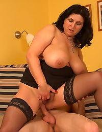 Horny big breeasted slut sucking and fucking - part 2185
