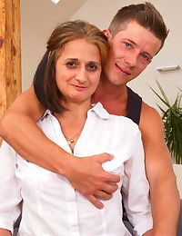 Horny housewife doing her younger lover - part 243