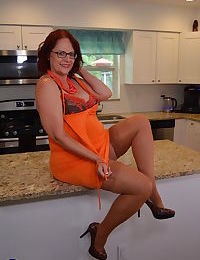 American housewife playing in the kitchen - part 2