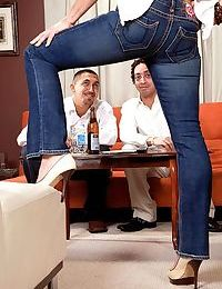 Two servings of cock for restaurant manager elle denay - part 872